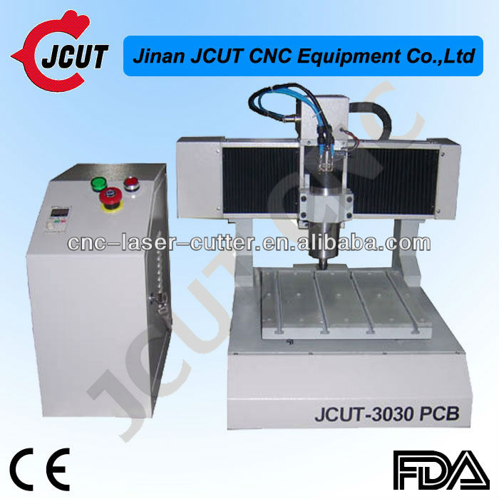 PCB plate making machine/ drilling and milling JCUT-3030(800w spindle,smart design)