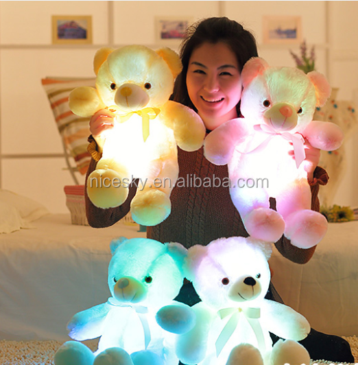 promotion star pillows led luminous pillow soft kawaii plush cushion hold pillow toys with led light and music player function