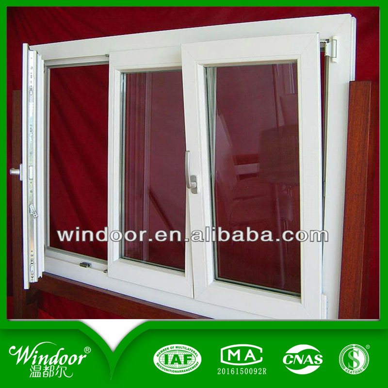 French Style Aluminum casement window with Crank and Grills design