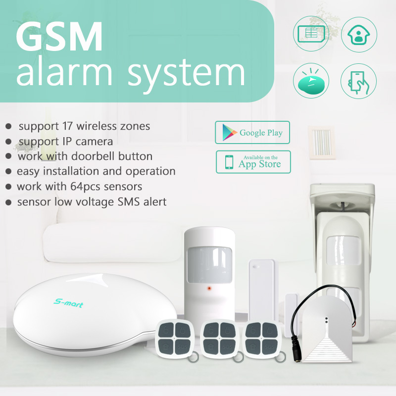 Android / IOS APP application home security alarm system with <strong>GSM</strong>