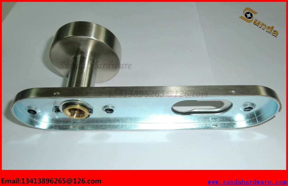 Modern SUS304 Door Handle Lock Set ,With Rose or Plate