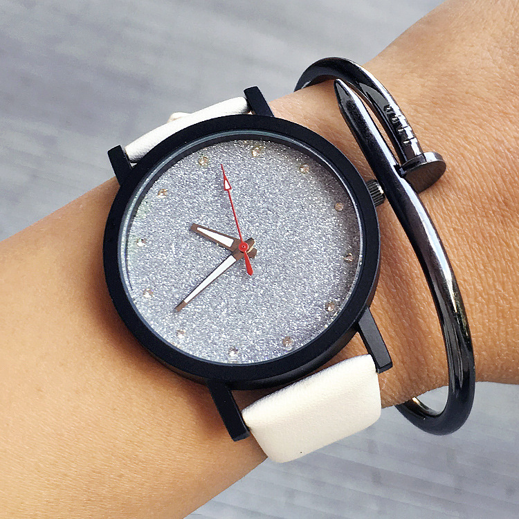 plug face stone and feather snowflakeobsidian watches