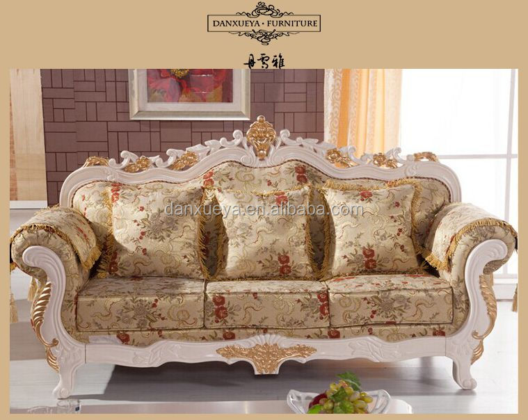 Antique turkish living room furniture fabrics sofa moq 1 for Sofa royal classic