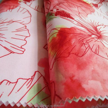 190T polyester printing taffeta with flower for garment/digital printing fabric