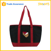 Custom Polyester Insulated Tote Shopping Bags With Handles