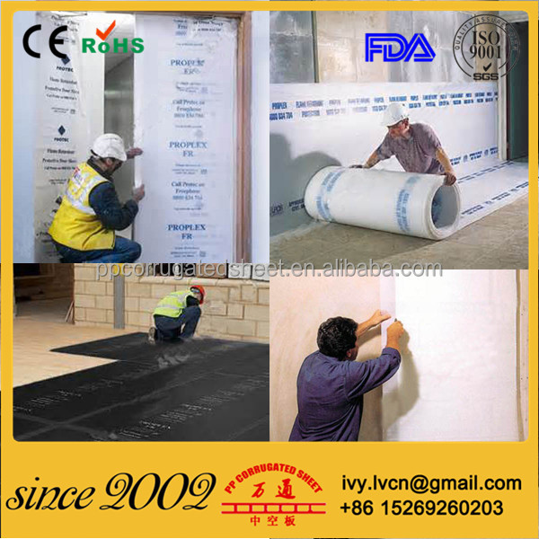 2mm 3mm 4mm 5mm 6mm Anti Slip PP Polypropylene Fluted Protection Boards