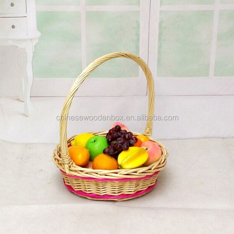 fruit packing basket with net cover