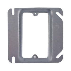 "UL Listed SGR44104 1-Device 4"" Raised Square Cover Steel Outlet Box Cover"