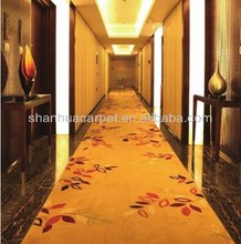 High end axminster wall to wall carpet for hotel lobby