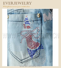 jean pocket hot fix design
