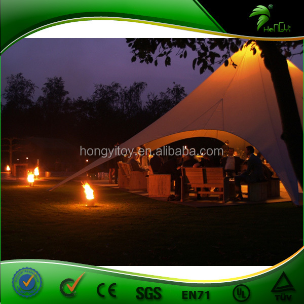 China Manufacturing Waterproof Alloy Beach Star Shaped Hotel Tent Star Tent for Sale