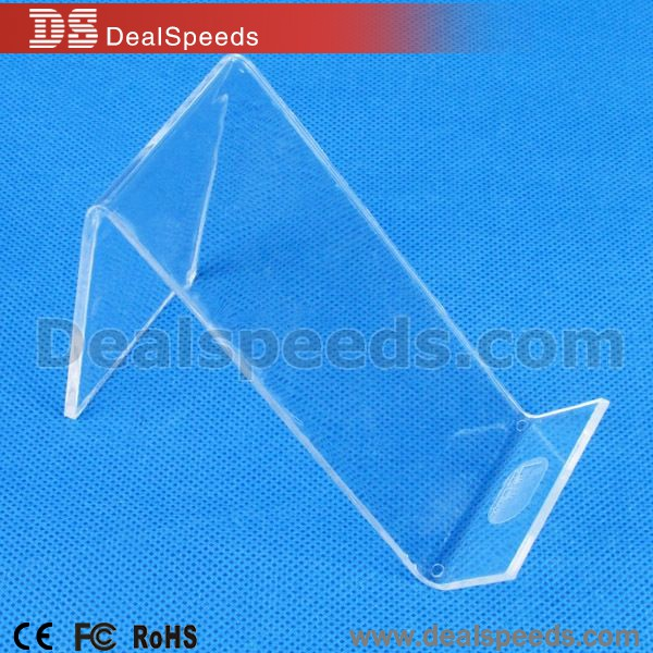 10PCS/Lot Clear Acrylic Plastic Phone Exhibition Display Stand Holder,Size: 11 x 5x 9cm