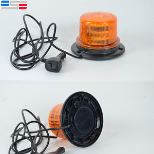 12V amber dome car roof warning led strobe beacon light for forklift