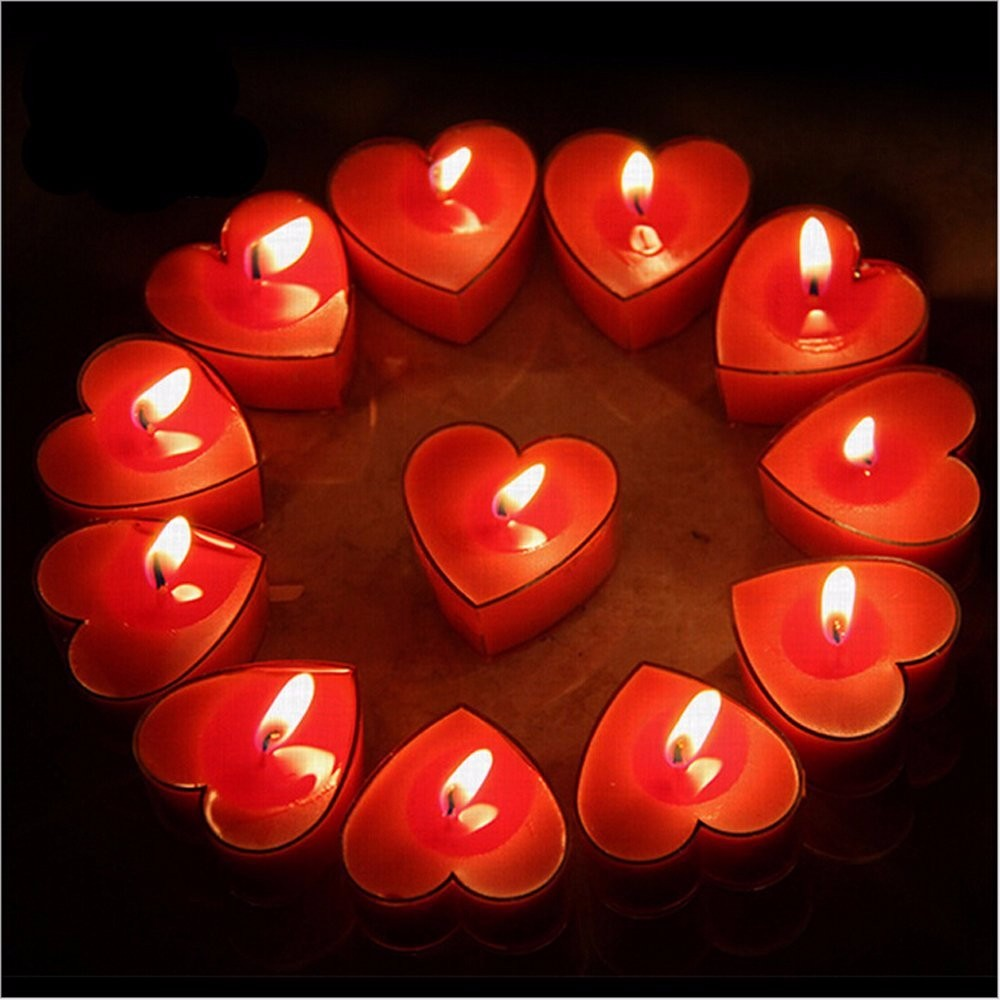 Heart Shape Korea Market Colorful Tealight Candle 10g/ Velas/ Bougies/ Chauffe Plats