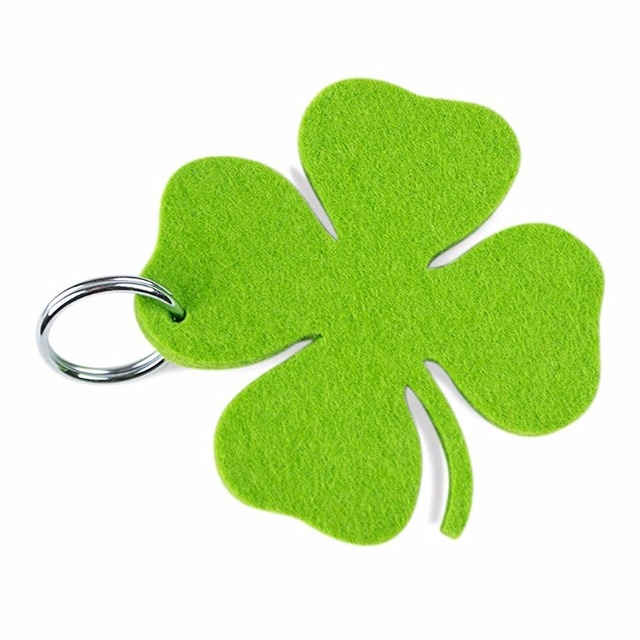 2017 Newest Fashion of clover/piano/cow polyester keychain