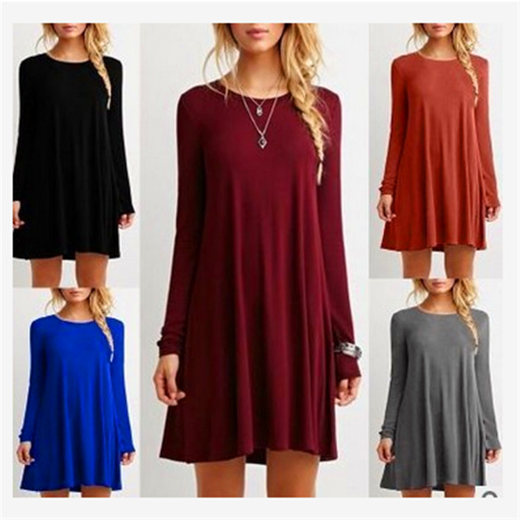 Boutique Long Sleeve Casual Dress For Babydoll