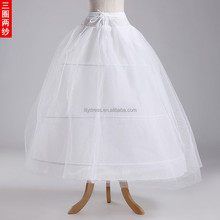 Hot A-Line Petticoat 3 Hoops 2 Layer Organza Underskirt Wedding Accessories Wedding Dress Crinoline PC02 Ball Gown Petticoat