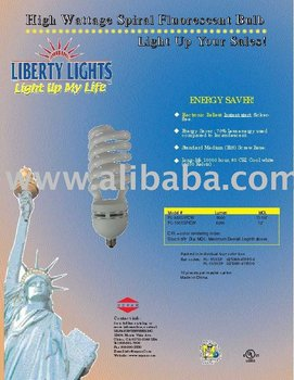 High Wattage Fluorescent Spiral Bulb