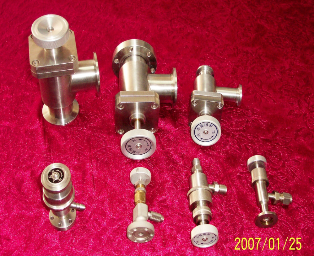UHV Angle Valve components For vacuum components