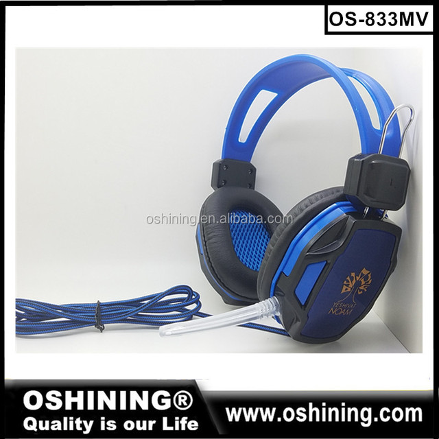 Shenzhen Factory Wholesale Cheap Stereo Headphones LED Gaming Headsets with Microphone (OS-833MV)
