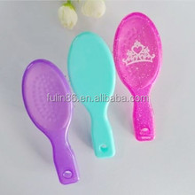 wholesale china factory candy color children's mini hair brush/jelly color hair brush