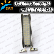 Canbus error free LED Dome Lamp auto interior roof light/car reading light for BMW E46 2D 4D with T10 canbus bulb