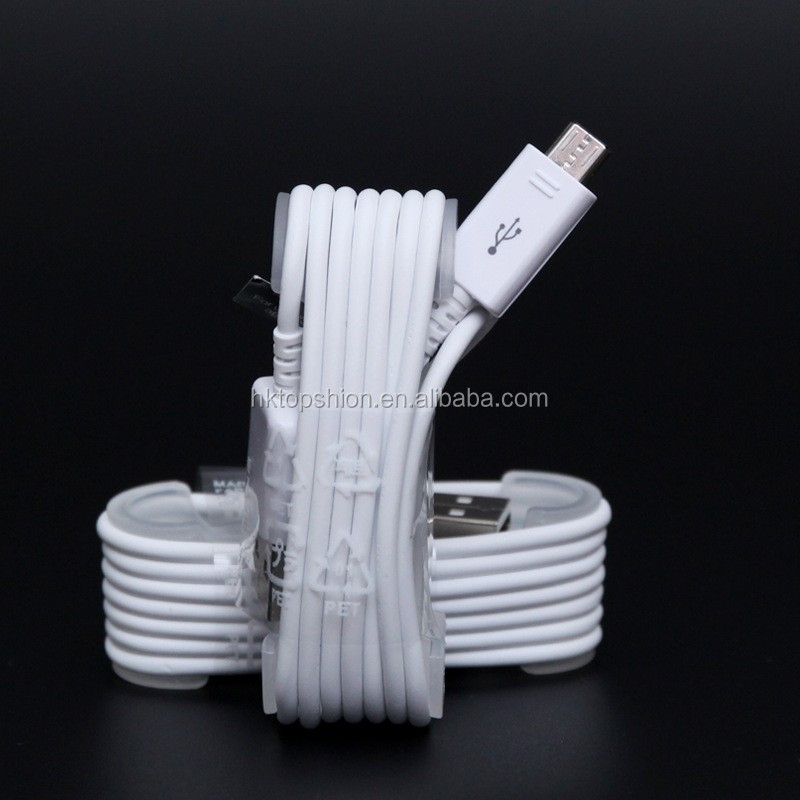 Android phones micro usb charging cable usb charger for samsung original cable, white