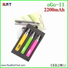 2016 Long life 2200 mah ego battery rechargeable e cigarette