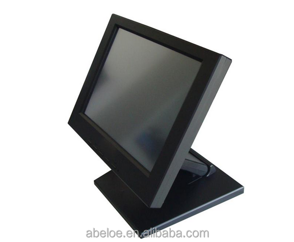 "Black 12"" LCD Monitor Touch Screen"