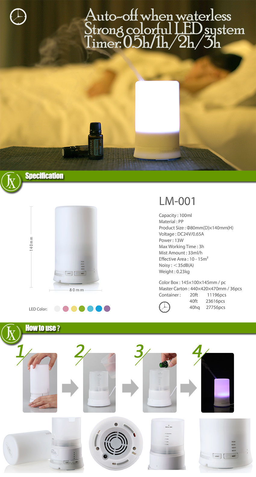 Green PP automatic air fragrance dispenser,fragrance mist humidifier ultrasonic aroma diffuser