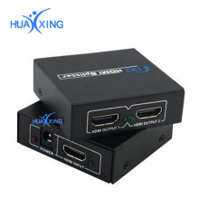 Full HD 1080p 3D HDMI Splitter 1x2 Amplifier Repeater Duplicator Converter Cable with(US,EU,AU)plug