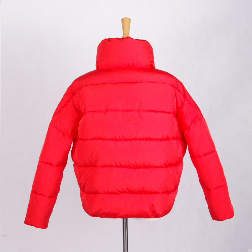 Latest Chinese Factory Cotton Clothing Women Sloping Shoulder Padded Jacket