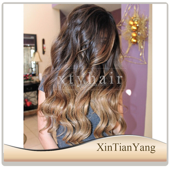 Alibaba express long human hair wig ombre kinky curly full lace wigs