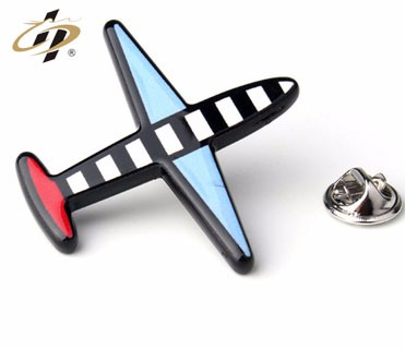 custom metal made funny airplane pin badge