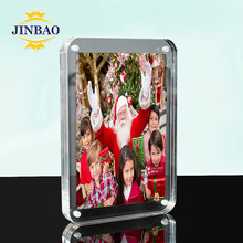 JINBAO Factory Wholesale Handing Curved Acrylic 8x10 Magnetic Baby Photo Frame