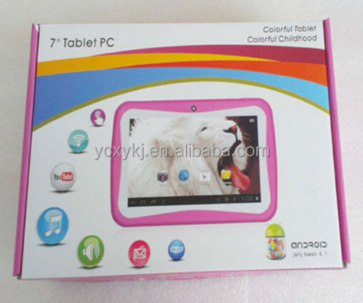 7 inch kids tablet pc dual camera WIFI 512MB/4GB android 4.2