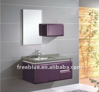 hot style metal painting with PVC bathroom vanity
