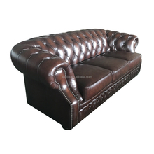 2017 Luxury chesterfield genuine leather sofa furniture