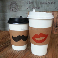 A fast food restaurant Beverage design Sleeve coffe disposable paper cups