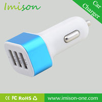 3 usb port 4.1A Aluminum Panel car charger for iPhone iPad Samsung Galaxy Android Smartphones