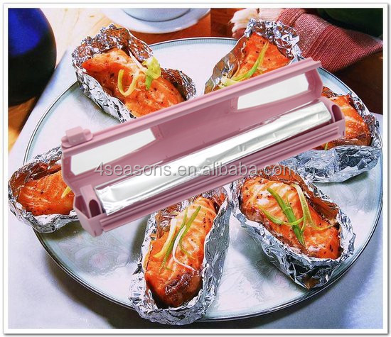 Patent product Plastic wrap and foil paper cutter Safety Plastic Wrap Cutting Dispenser Case Aluminum Foil Paper Wrap Cutter NEW