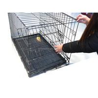 Hot design Folding Double door wire welded dog kennel for DE market