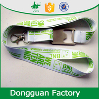 silky heat transfer print bottle opener neck lanyard