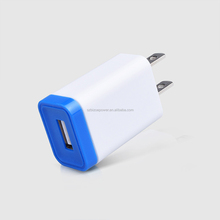 High quality mobile phone accessory 5V 5W single port usb wall charger for Smartphone