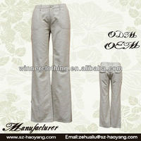 Factory Made Top Fashion Women 100% Linen Pants Suit