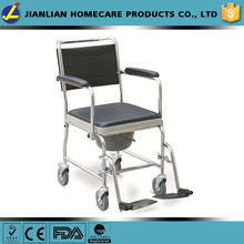 Foshan JL steel commode wheelchair with hard seat cushion JL6920