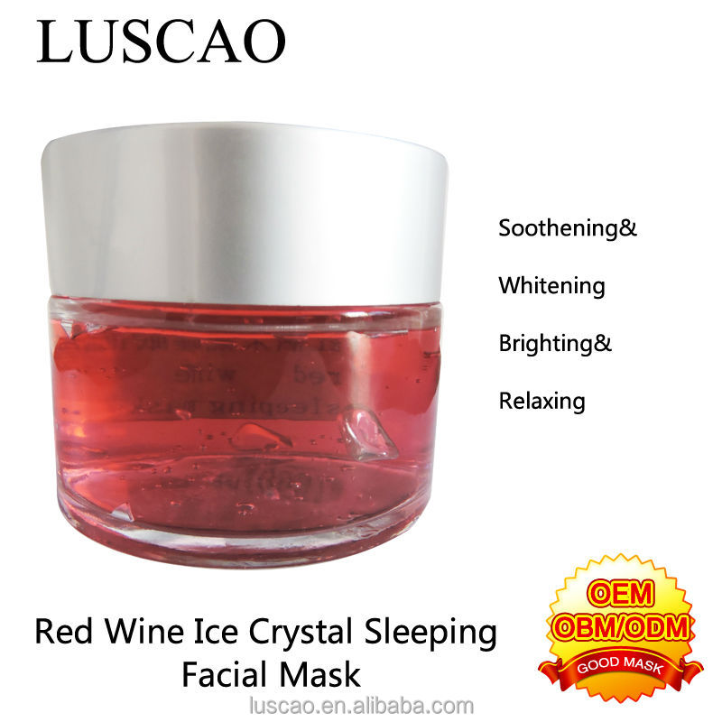 Professional Skin Care Collagen Crystal and Hydrating Reparing for Red Wine Crystal Sleeping Facial Mask