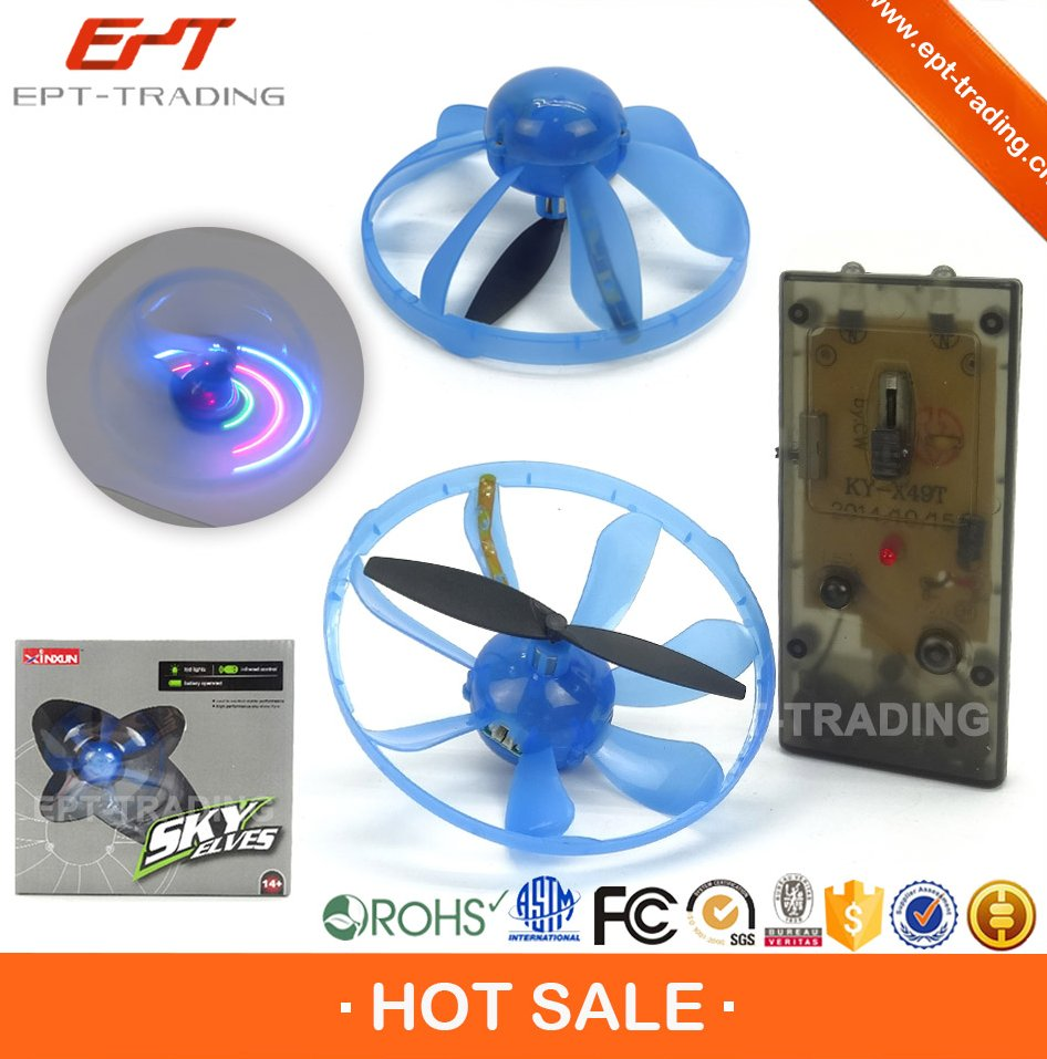 Crazy selling kids 2.4G rc mini flying toys ufo with battery
