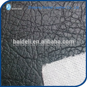 knitted backing pvc artificial leather sofa leather fabric