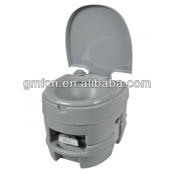 Hot selling grey 10L used western disabled flush hospital marine plastic mobile wc toilet